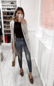 simple long cardigan