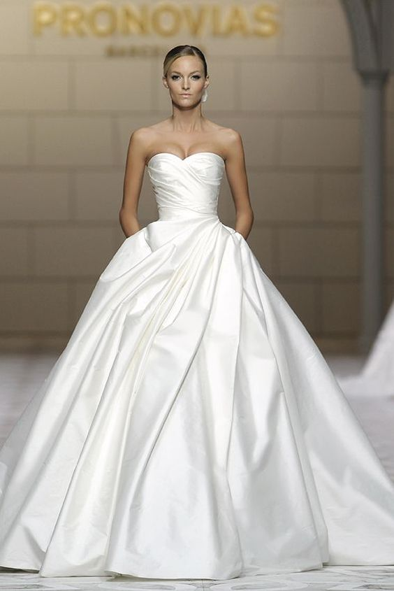 silk ball gown