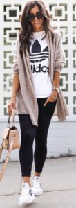 street style long cardigan outfit