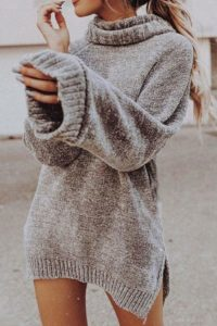Turtleneck sweater dress outfit