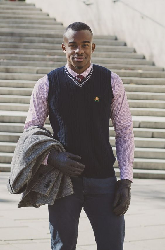 dressed up sweater vest