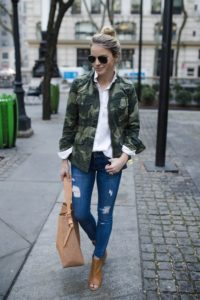 tailored camo jacket