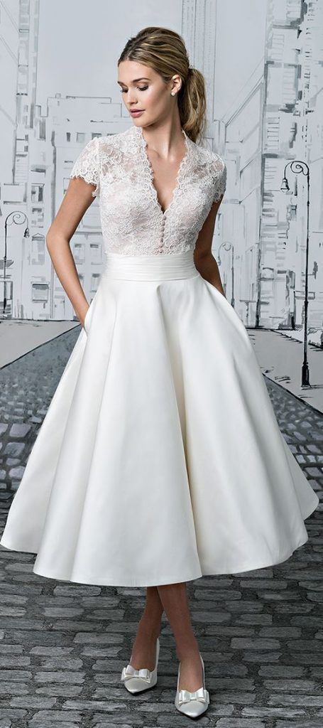 classic tea wedding dress