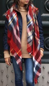 plaid scarf preppy
