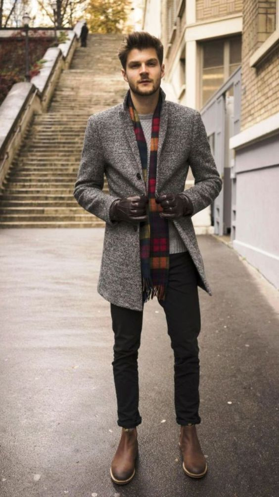 mens coat outfit