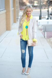 business casual yellow