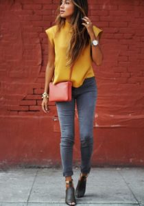 edgy yellow shirt outfit