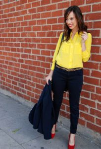yellow and black casual