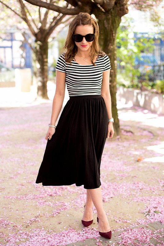 A-Line Skirt outfit idea