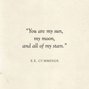 All of My Stars Wedding Quote