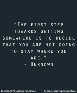 First Step Beginnings Quotes