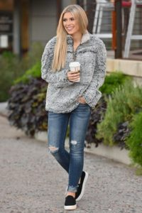 Casual and Cosy Fleece Sweater