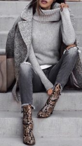 Gorgeous Overcoat and Statement Boots
