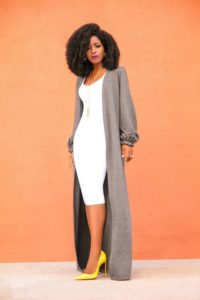Maxi Cardigan with Bodycon Dress