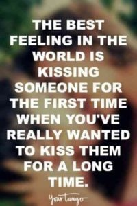 Kissing Someone For The First Time quote