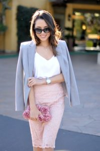 Lace Pencil Skirt outfit for a bridal party