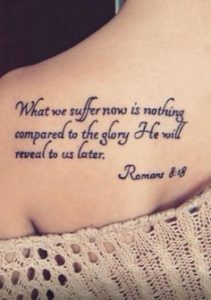The Glory quote tattoo