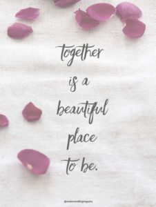 Together Wedding Quote