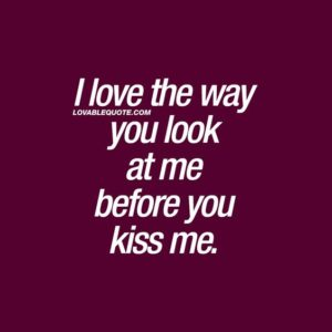 kiss quote messages
