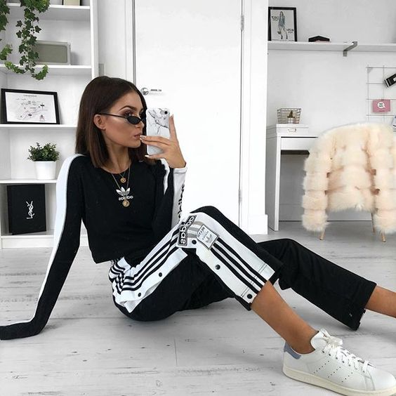 adidas pants outfits