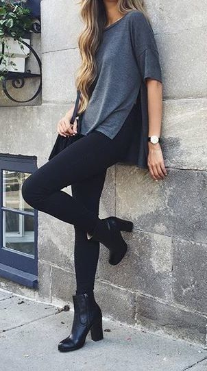 heel booties leggings