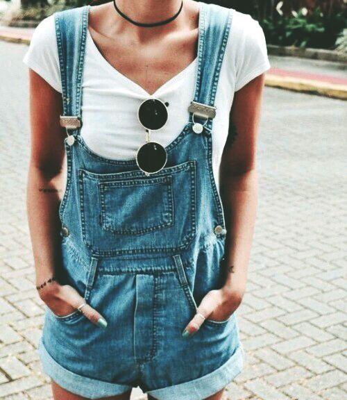 tshirt overalls
