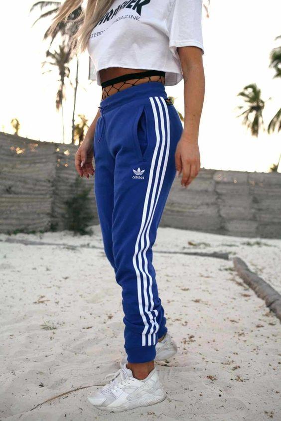 bright blue adidas