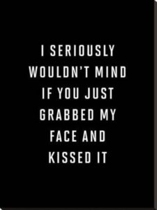 funny kiss quote