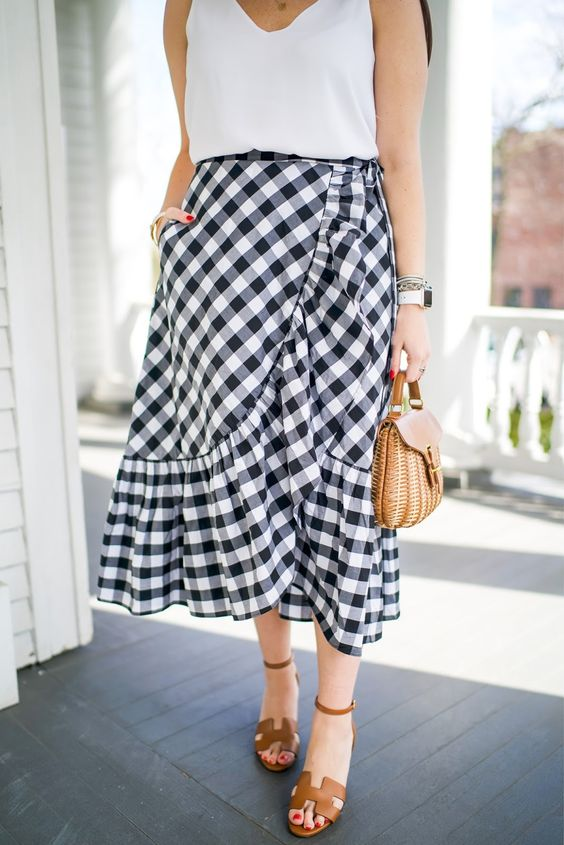midi skirt casual