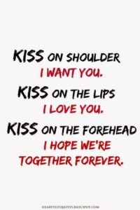 kiss you forever quote