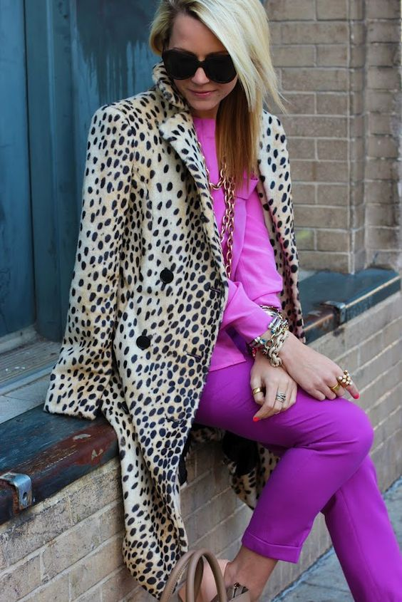 leopard pink outfit