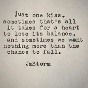 one kiss quote