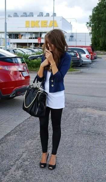 black heels leggings