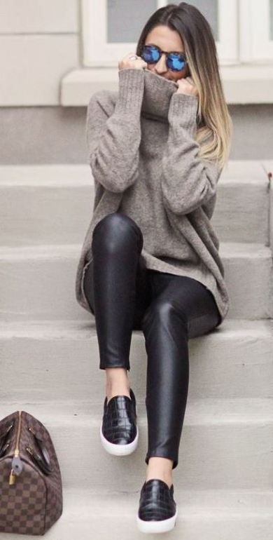 black sneakers slip on
