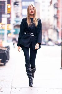 black slouchy boots