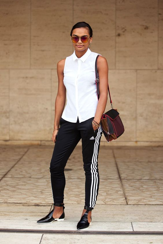 chic adidas blouse