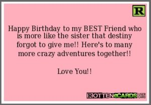 BFF Fate Birthday Quotes