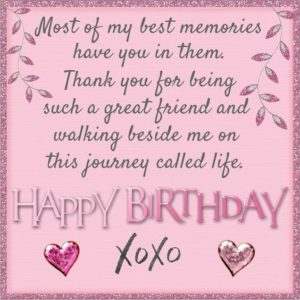 BFF Memory Birthday Quotes
