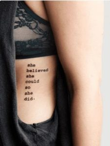 Believe Quote Tattoos