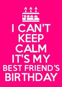 Calm Birthday BFF Quotes