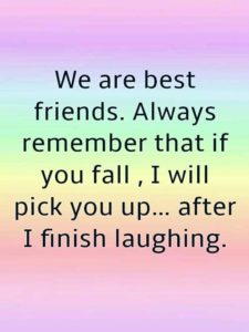 Short Funny Friendship Quotes and Sayings