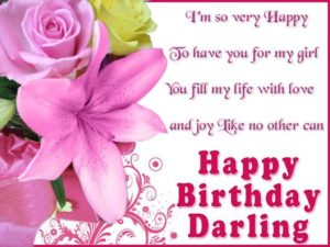 Darling Birthday Quotes