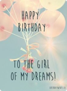 Dream Girl Birthday Quotes