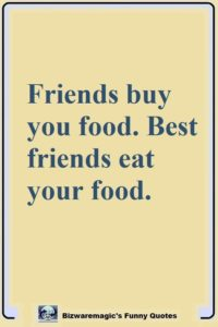 Friendship Food Quotes