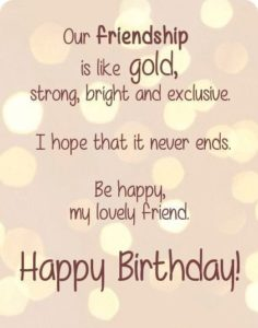 Gold Friendship Birthday Quotes