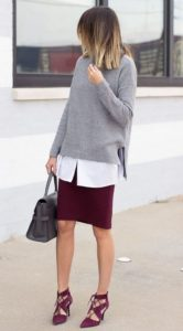 Berry Skirt and Shoes