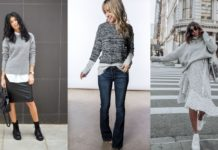 Best Grey Sweater Outfits