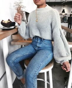 High Waist Jeans and Statement Sleeves