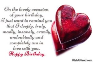 In Love GF Birthday Quotes
