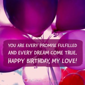 Love Girlfriend Birthday Quotes